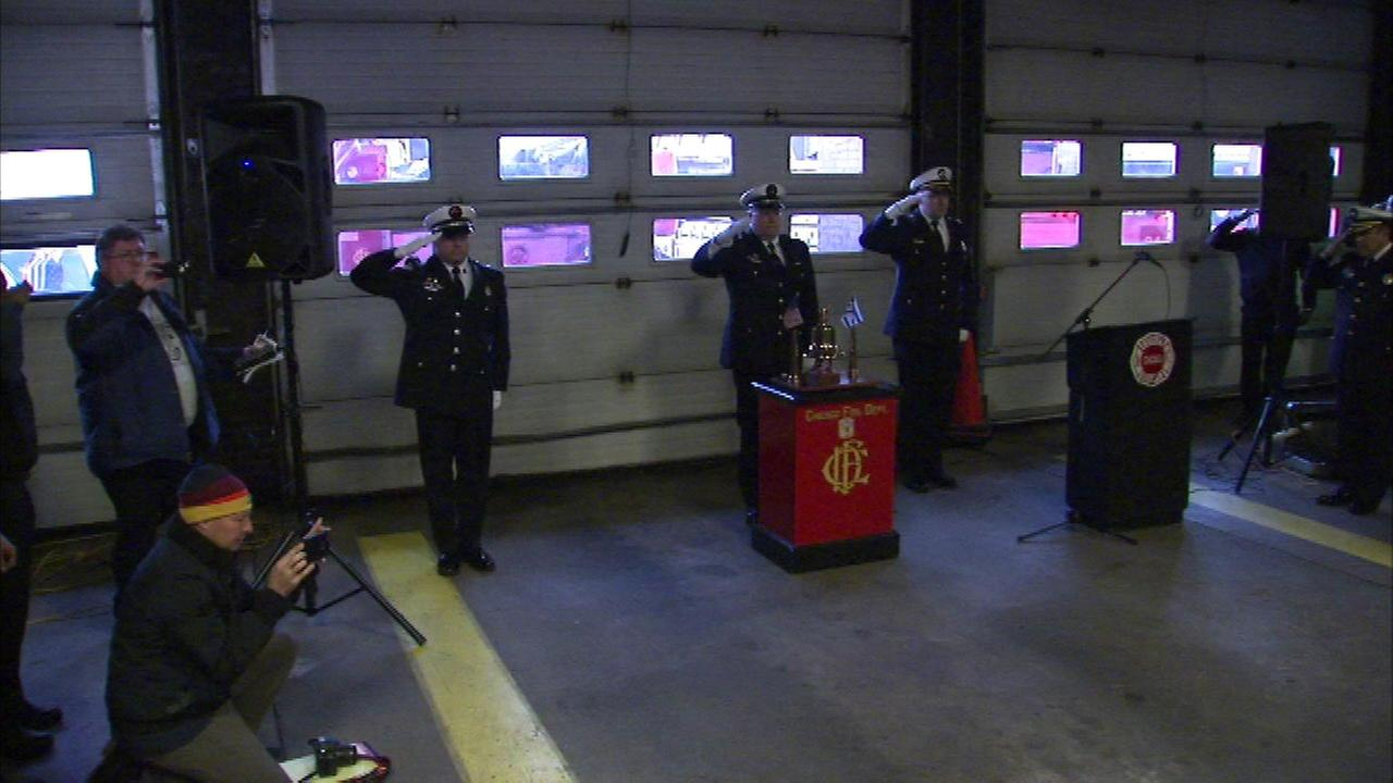 Firefighters and family pay tribute to fallen firefighter Daniel Capuano one year after his death.