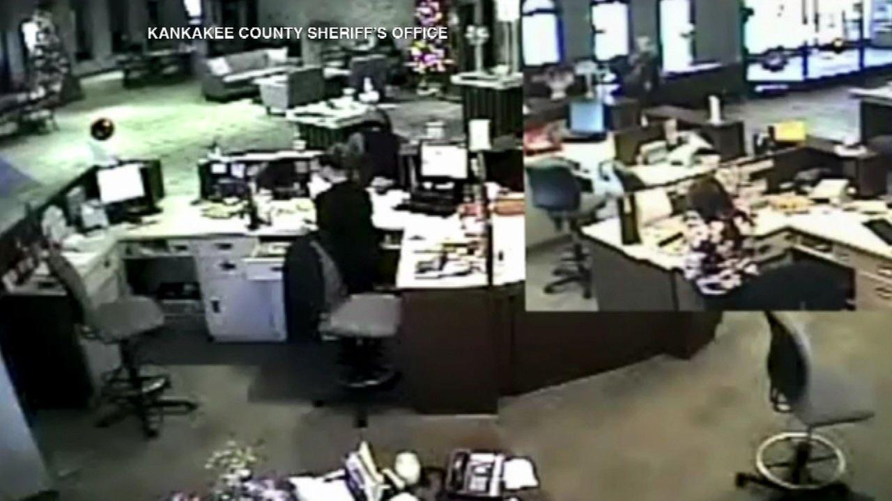 Momence bank robbery suspect sought