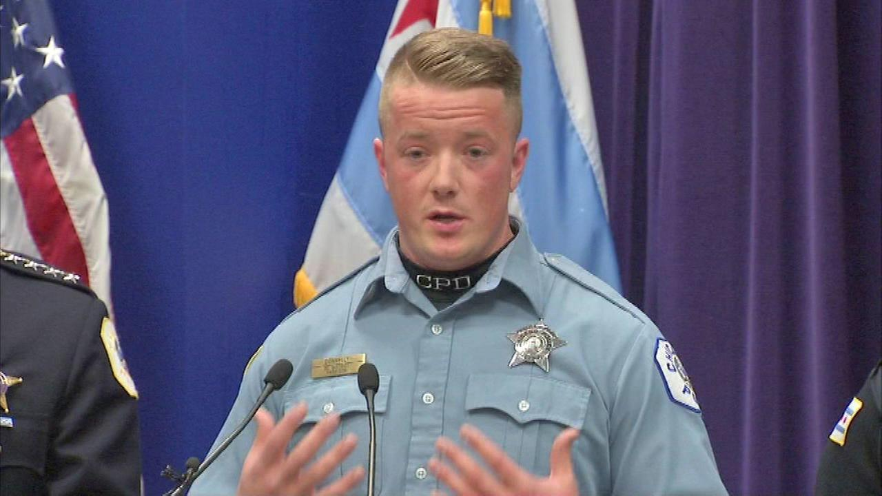Chicago Police Officer Michael Donnelly said he found the victim near Lexington and Homan on Chicagos West Side after he escaped the attack.