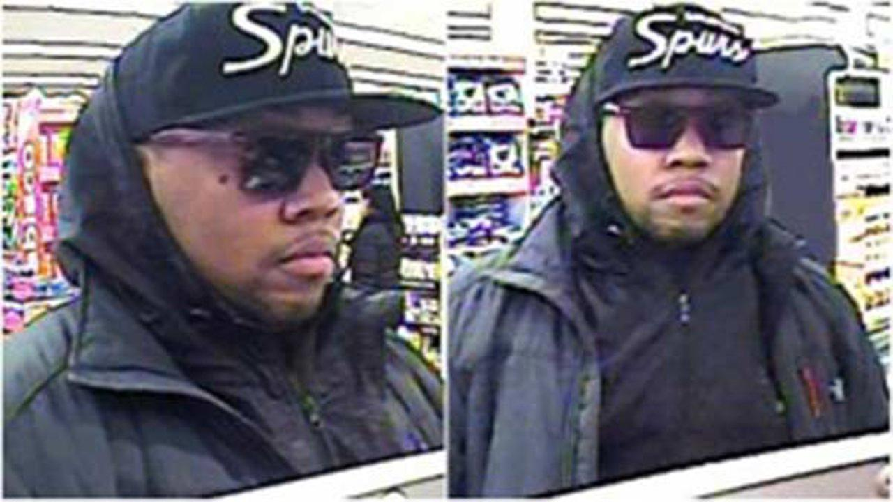 Surveillance images of a man who robbed a bank inside a North Side Jewel-Osco store Monday morning.