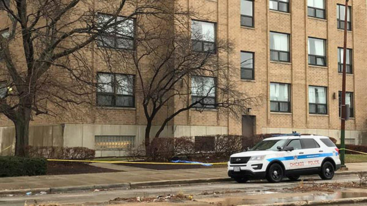 Police said a woman in her 20s was found dead around 8:02 a.m. in the 6900-block of South Wentworth outside the Wentworth Rehabilitation Center.
