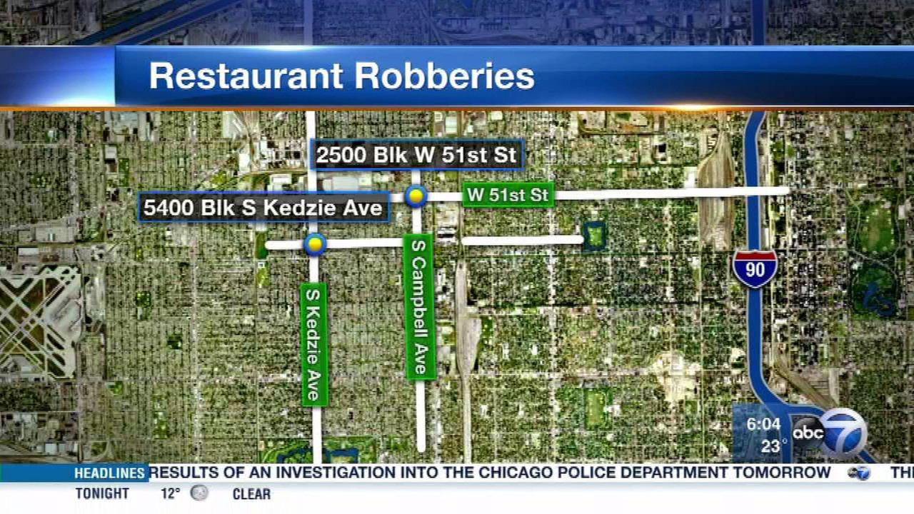 Gage Park restaurants robbed at gunpoint