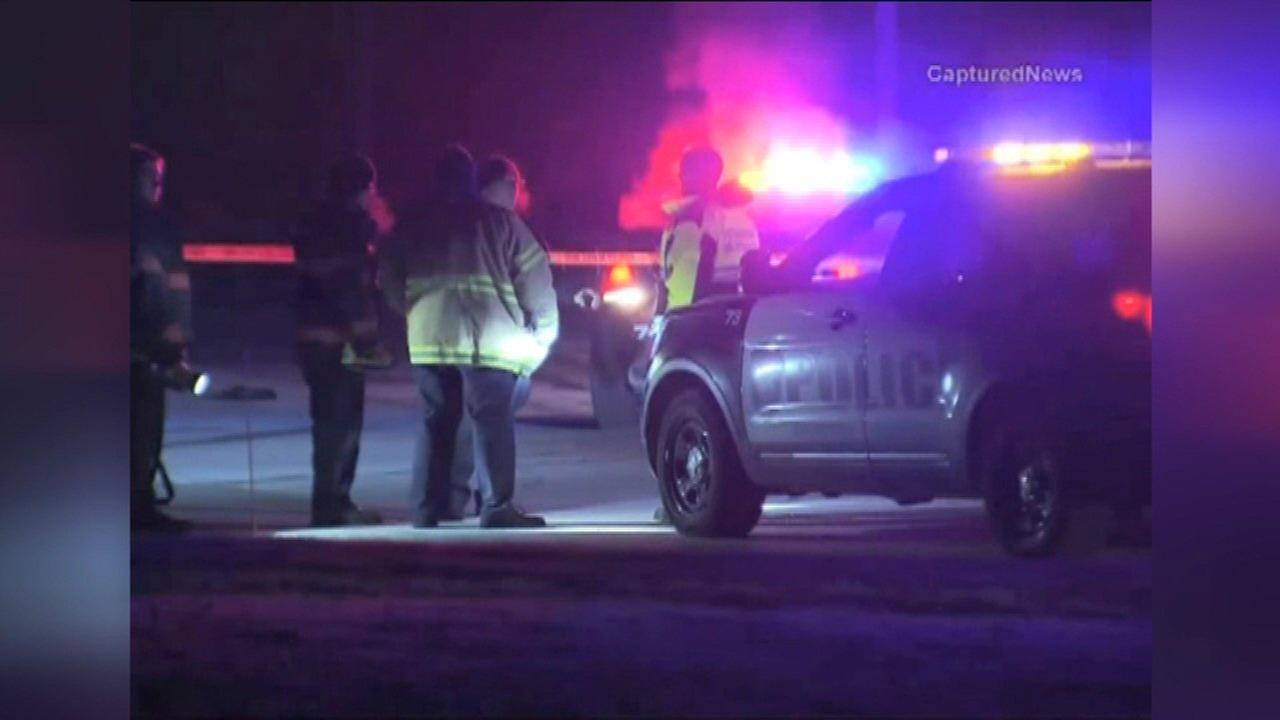 Police investigate after a woman and 11-year-old boy were injured in a drive-by shooting.