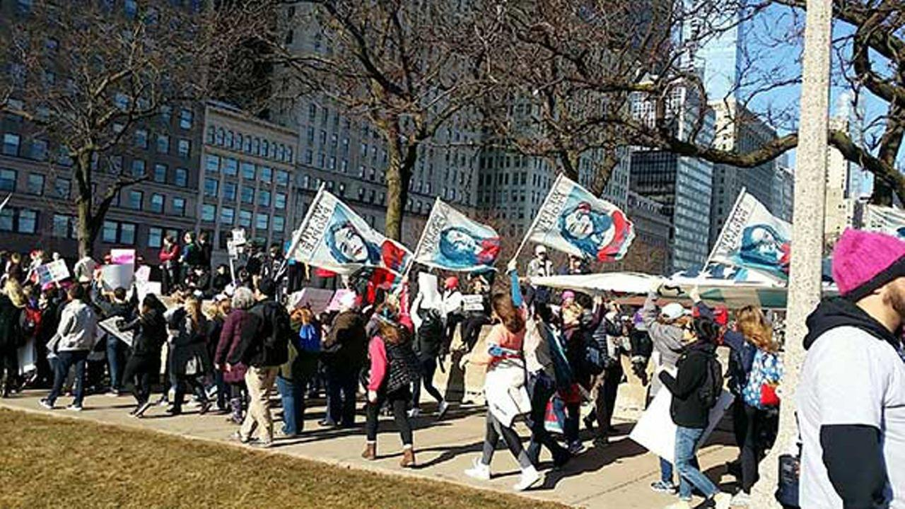 Womens March and rally in Chicago on January 21, 2017.Credit: Marcy Huttas