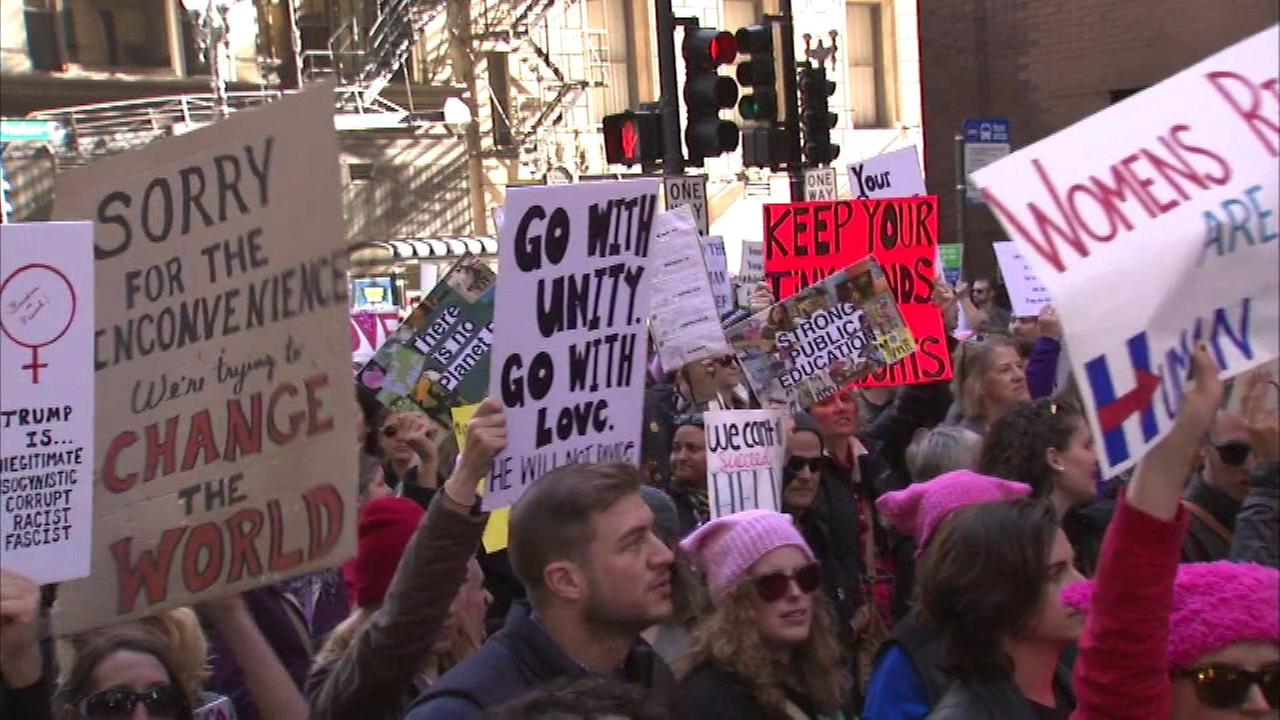 Womens March on Chicago on January 21, 2017.