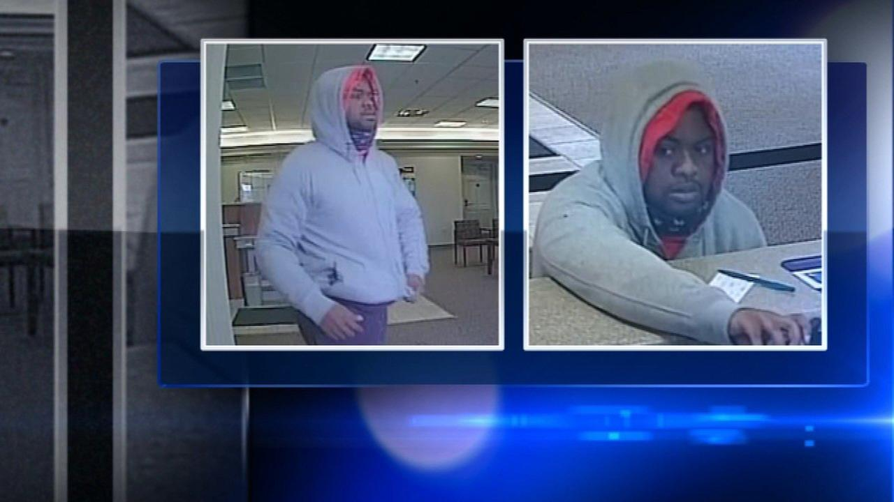 Surveillance video shows the man who robbed a Fifth Third Bank in Naperville on Saturday.