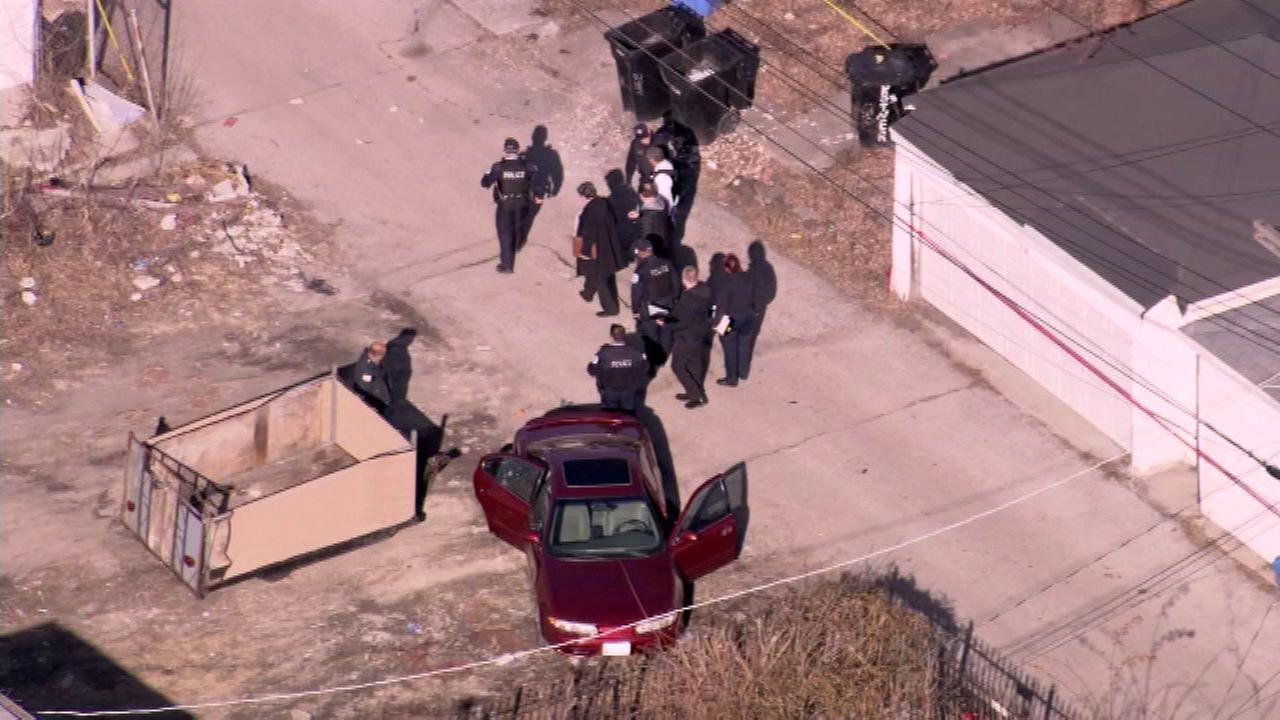 A man, woman and toddler were shot while sitting in a car in the 2300-block of South Kenneth in Chicagos North Lawndale neighborhood, police said.