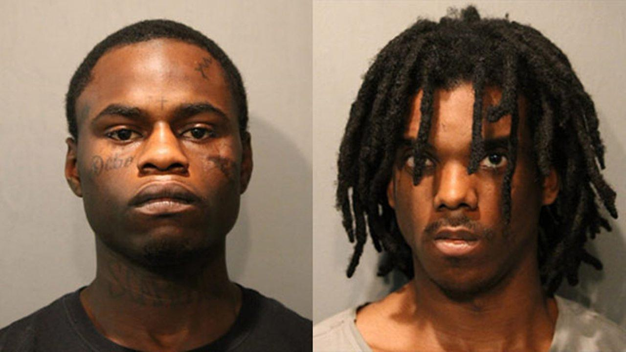 Dionel Harris, 19, (left) and Devon Swan, 26 (right)