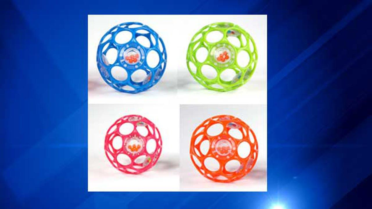 680,000 baby rattles recalled due to choking hazard