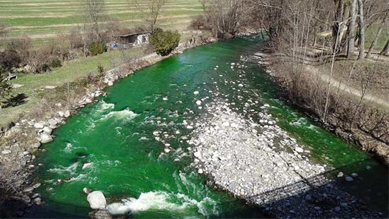 Why is this river fluorescent green?