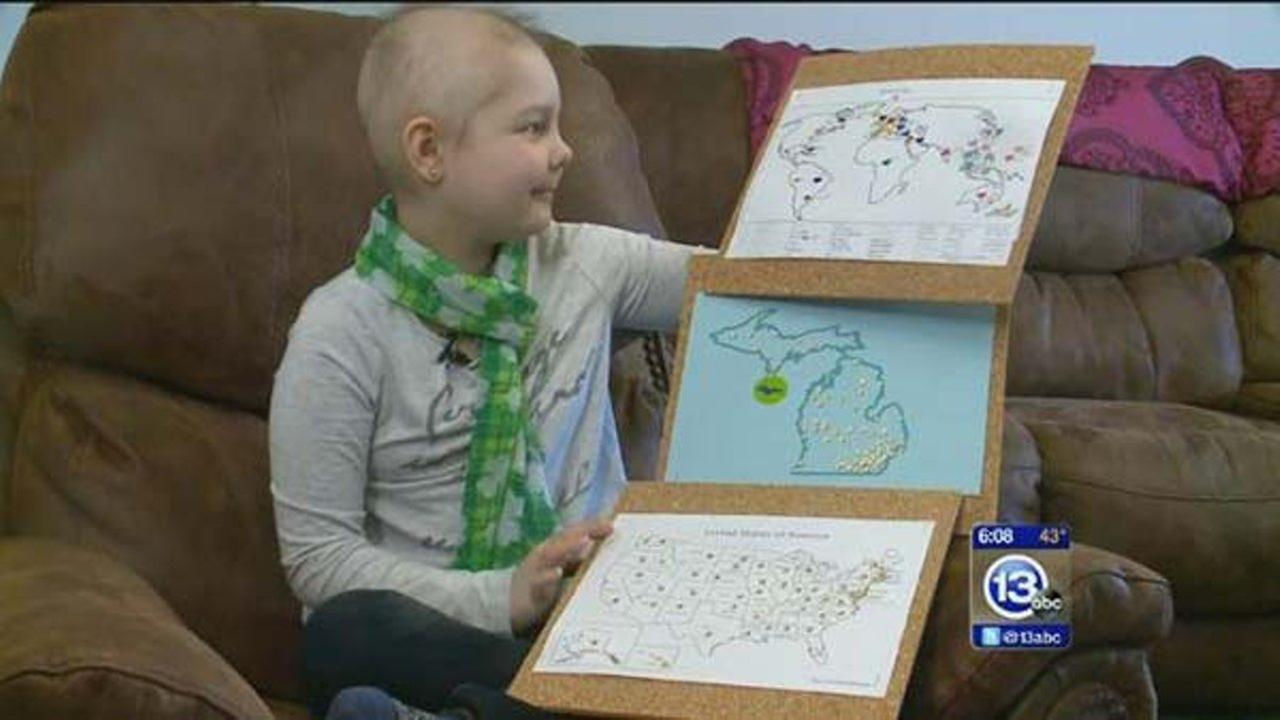 When Elly Wickenheiser made the simple request to be mailed Christmas cards, the 8-year-old who is battling cancer never imagined she would get support from around the world.