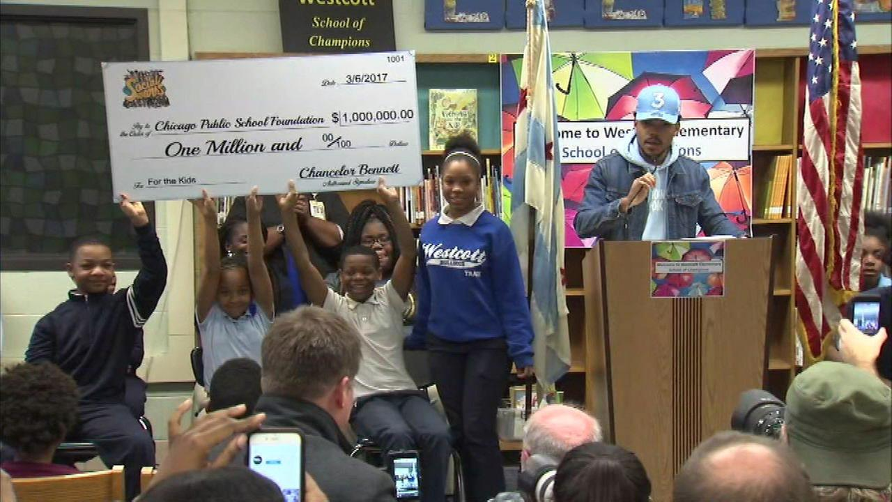Chance the Rapper to donate a million dollars to Chicago Public Schools