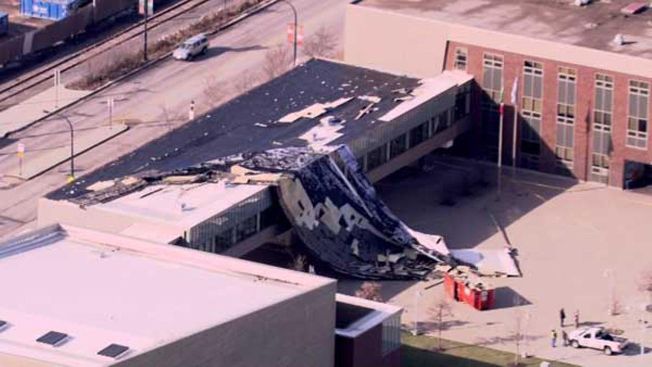 Chopper 7HD flew over Benito Juarez Community Academy near West Cermak Road and Ashland Avenue Tuesday morning.