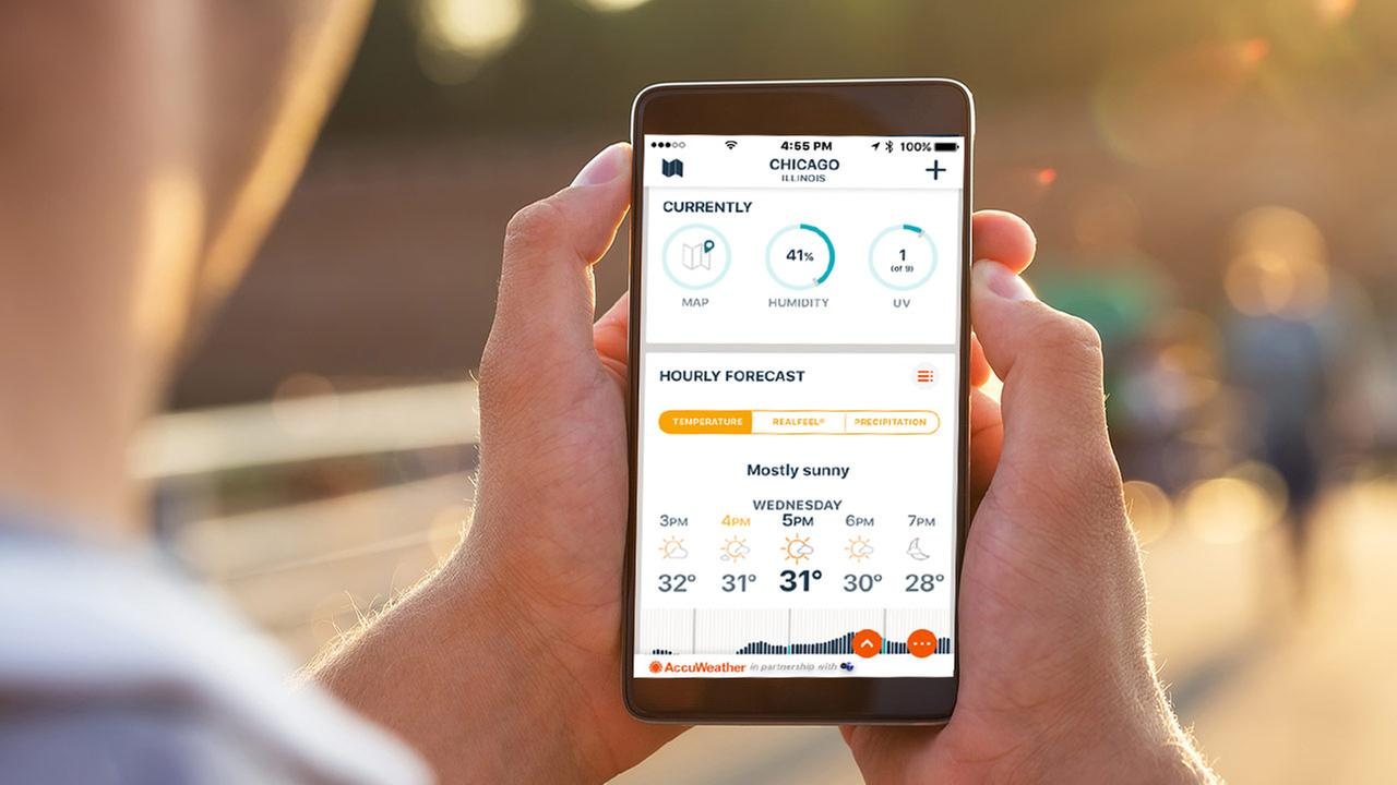 Get the ABC7 Chicago/AccuWeather app for minute-by-minute forecasting today!