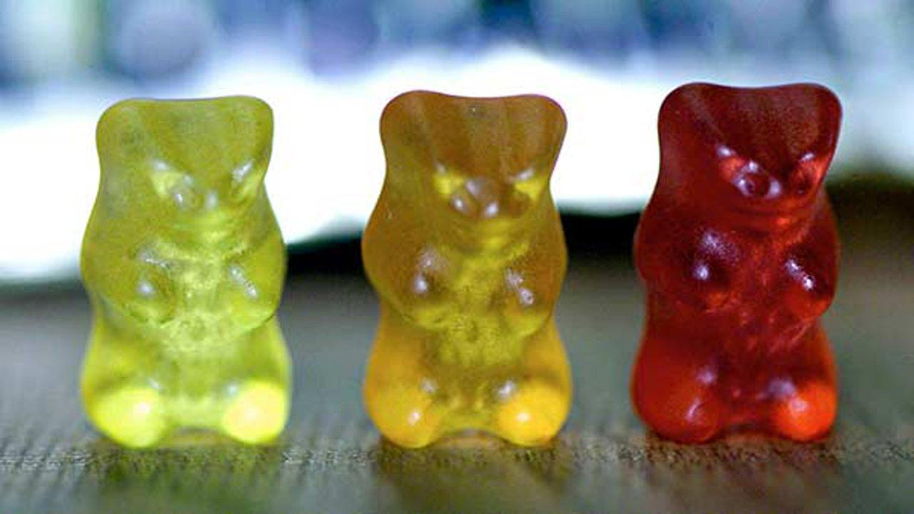 FILE- This March 15, 2001 file photo shows gummi bears at the Haribo company in Linz, Austria.