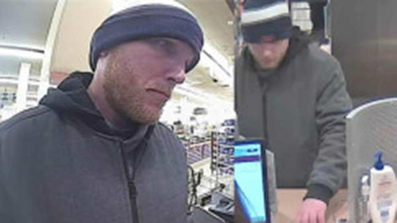 Surveillance photo of the suspect who robbed a TCF Bank branch Thursday morning in Lake View.