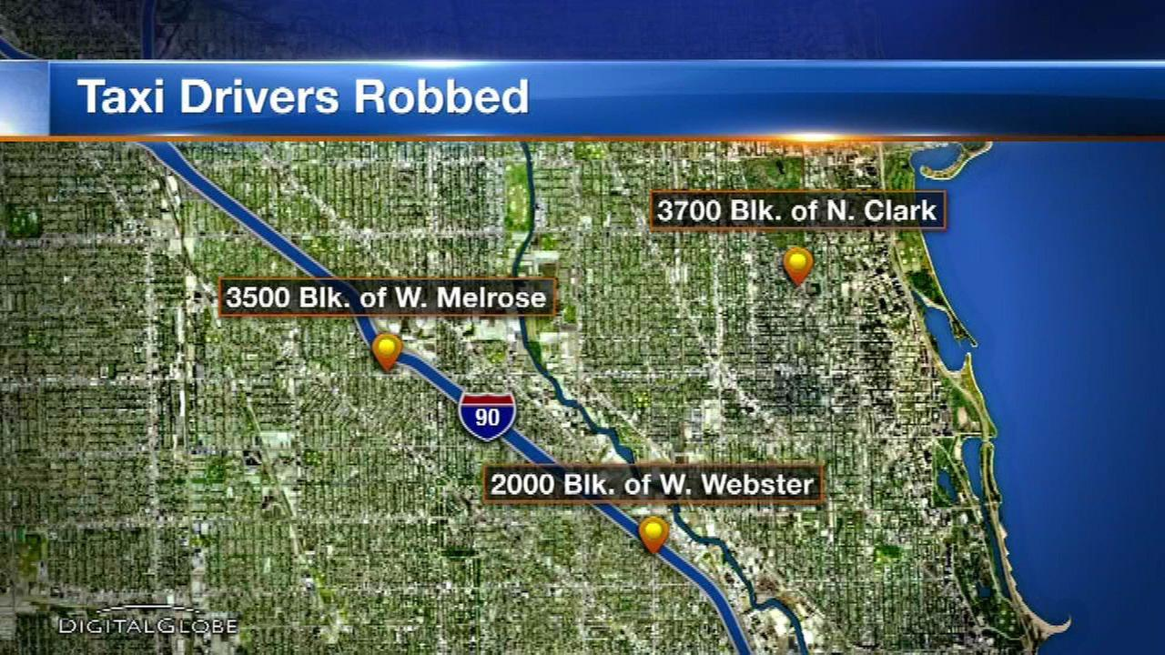 Police: Taxi drivers targeted in North Side armed robberies