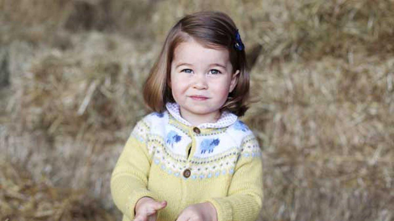 A photo released by the Duke and Duchess of Cambridge shows their daughter, Princess Charlotte, taken in April 2017 by her at Anmer Hall in Norfolk, England. The Duchess of Cambridge via AP