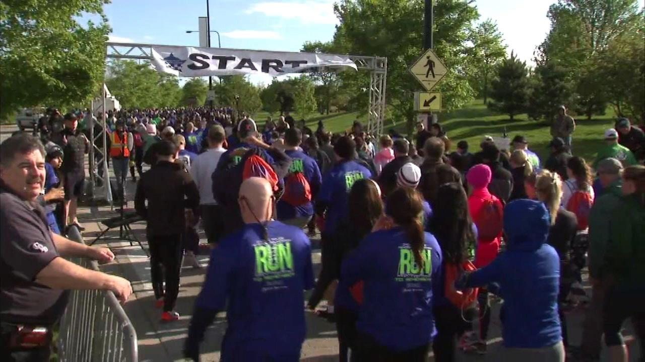 Runners take part in the 13th annual Run to Remember.