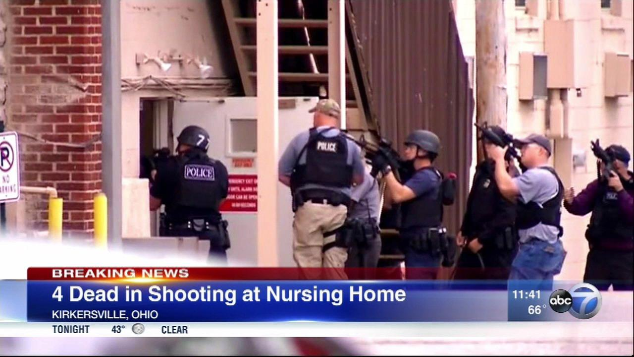 Ohio shooting in nursing home kills 4, including new police chief expecting 7th child