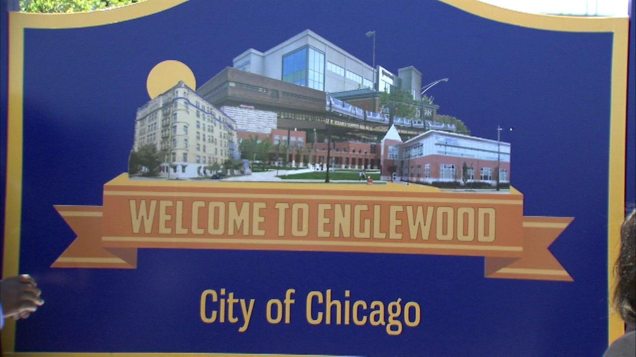 For the first time ever, the Englewood neighborhood has its own landmark sign at the corner of 63rd and Yale.