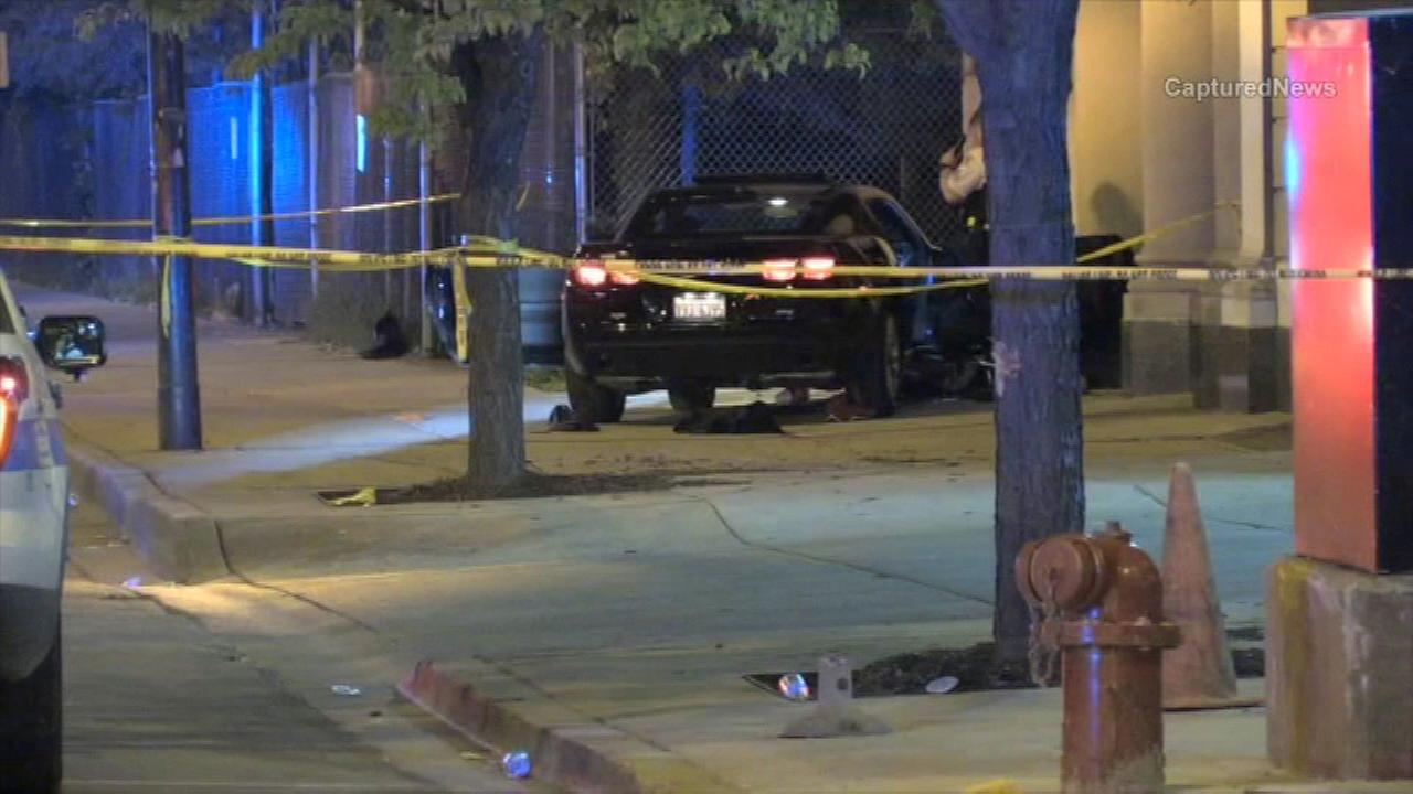 West Garfield Park shooting, crash