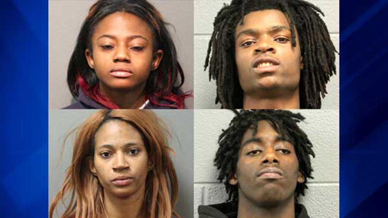 (clockwise from upper left) Brittany Covington, 18, of Chicago; Tesfaye Cooper, 18, of Chicago; Jordan Hill, 18, of Carpentersville; and Tanishia Covington, 24, of Chicago.