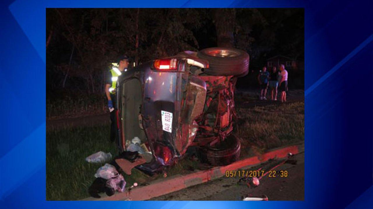 Police: Riverside rollover crash caused by drunk driver going 90 mph