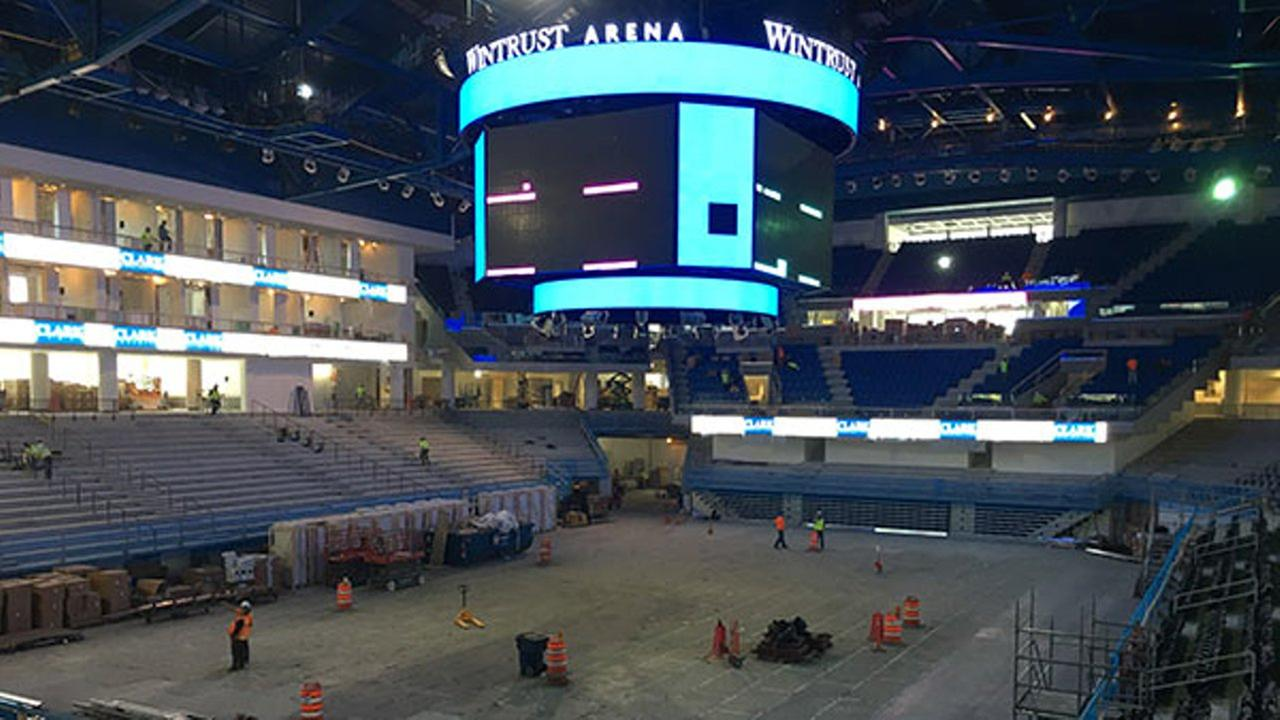 Were getting a first look inside DePaul Athletics new arena in Chicago.
