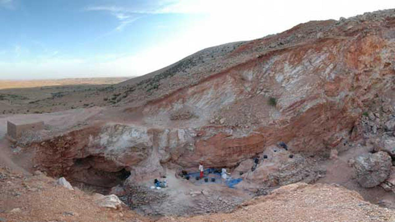 Before mining, the area of the excavation site was a cave where early hominins could take shelter and clean and cook the animals they hunted.Courtesy Shannon McPherron/ MPI EVA Leipzig