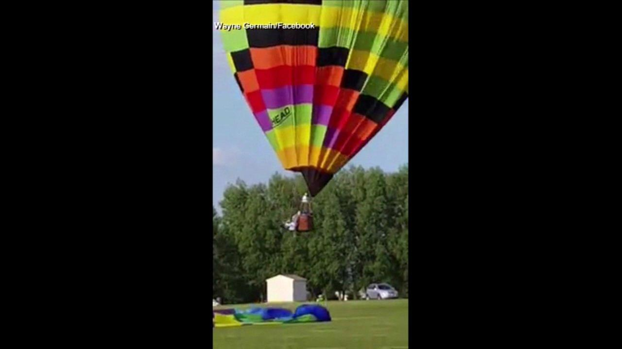 Illinois hot air balloon accident injures 1 person