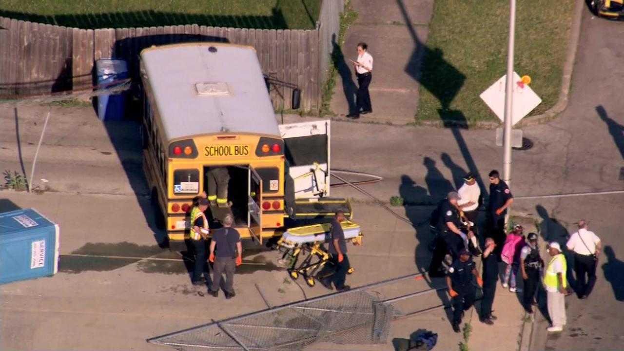 7 hurt in Chicago accident involving school bus, motorcycle