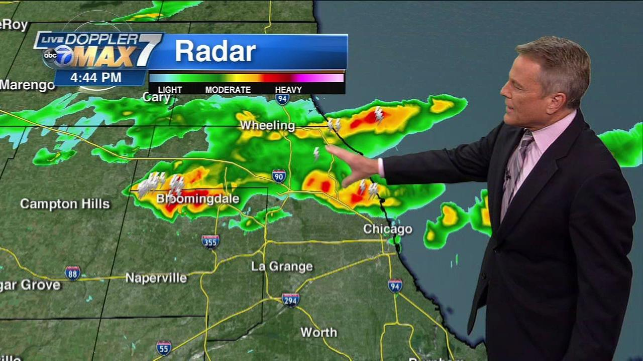 Severe thunderstorms possible through Friday evening