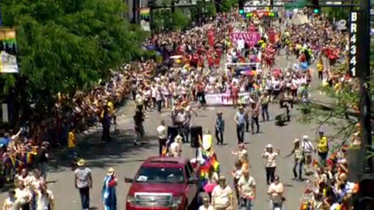 The 48th Annual Chicago Pride Parade.The 48th Annual Chicago Pride Parade.