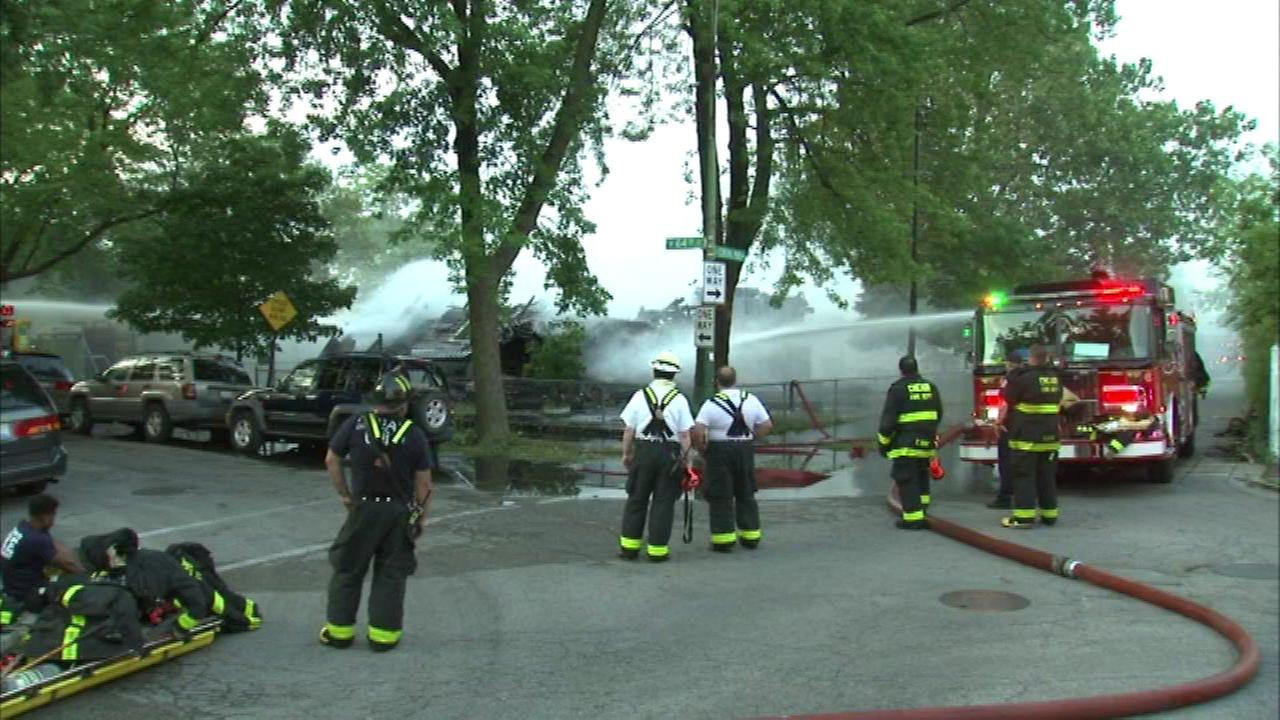 Southwest Side home collapses during fire