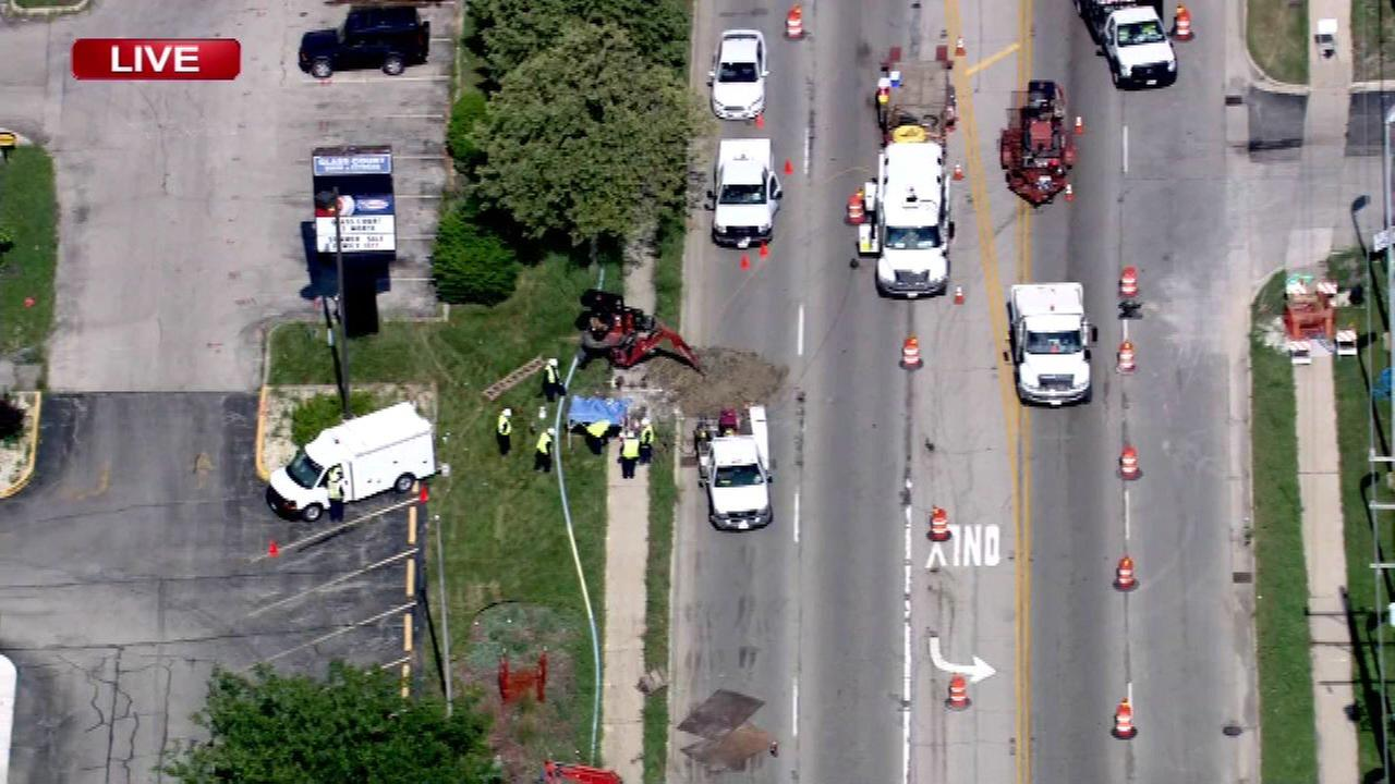 Roosevelt Road reopens in Lombard after gas leak