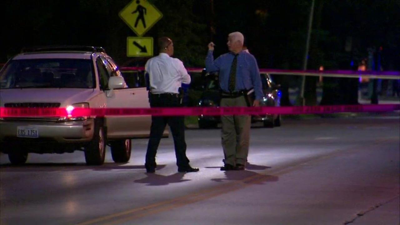 Chicago police investigate a deadly drive-by shooting in the 3600-block of 3600-block of South Western Avenue Sunday night.