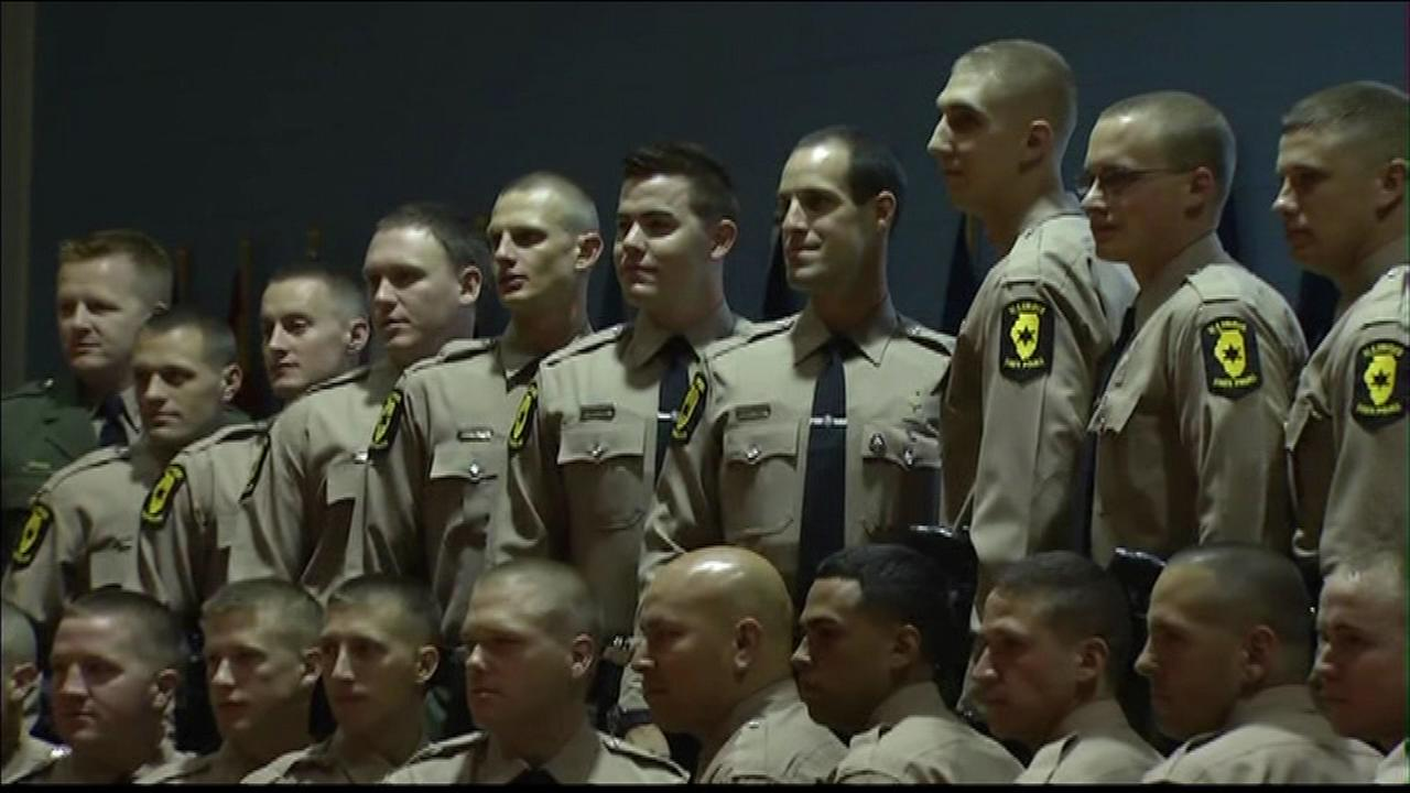 A new class of Illinois state troopers will begin patrolling state roads on Monday.