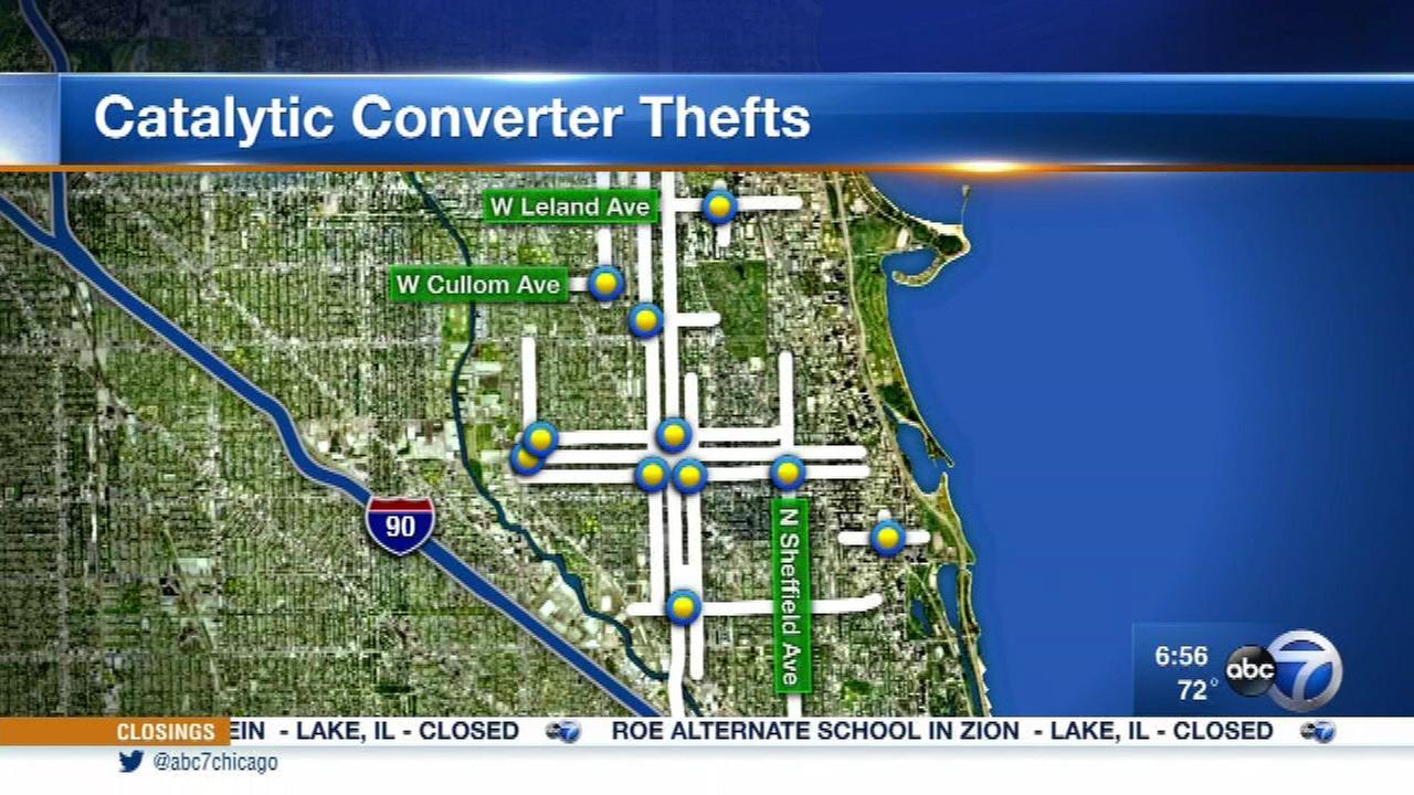 Catalytic converter thefts reported on North Side