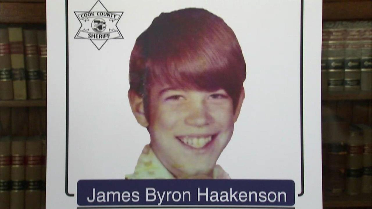 Dart said the remains of a person whose body was found under the crawl space of Gacys Chicago area home in 1978 were those of 16-year-old James Jimmie Byron Haakenson.