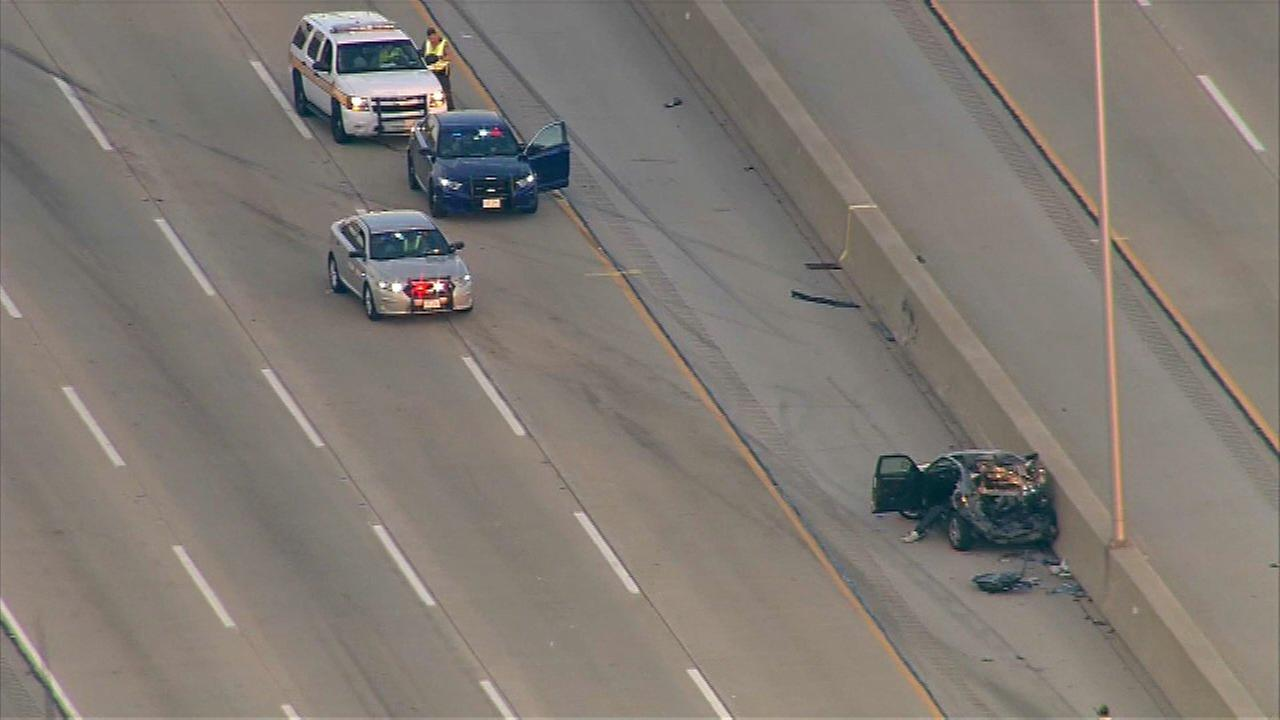 1 critically injured in I-294 multi-vehicle crash