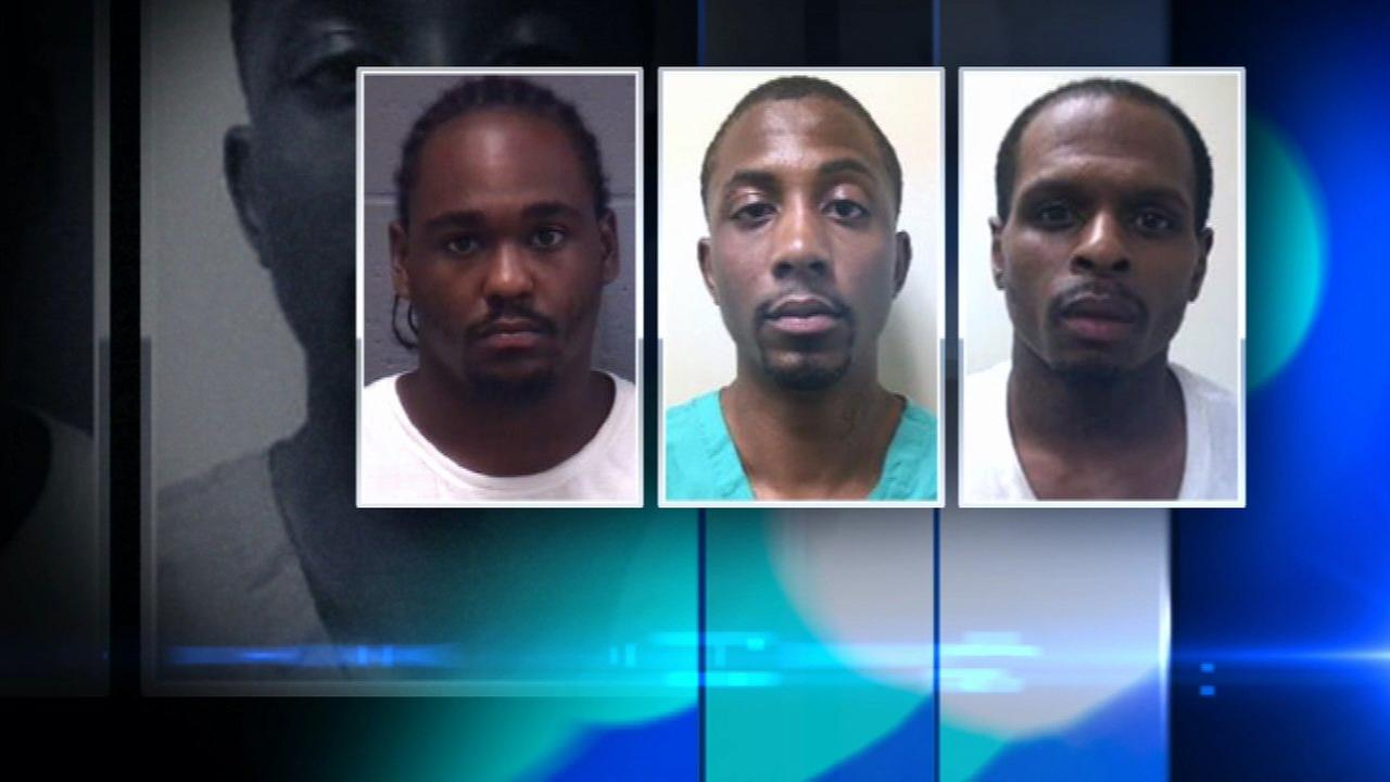 D Angelo Bryant, 21, of Indianapolis; Tevin Woods, 26, of Chicago; and Terrance Storey, 28, of Chicago.