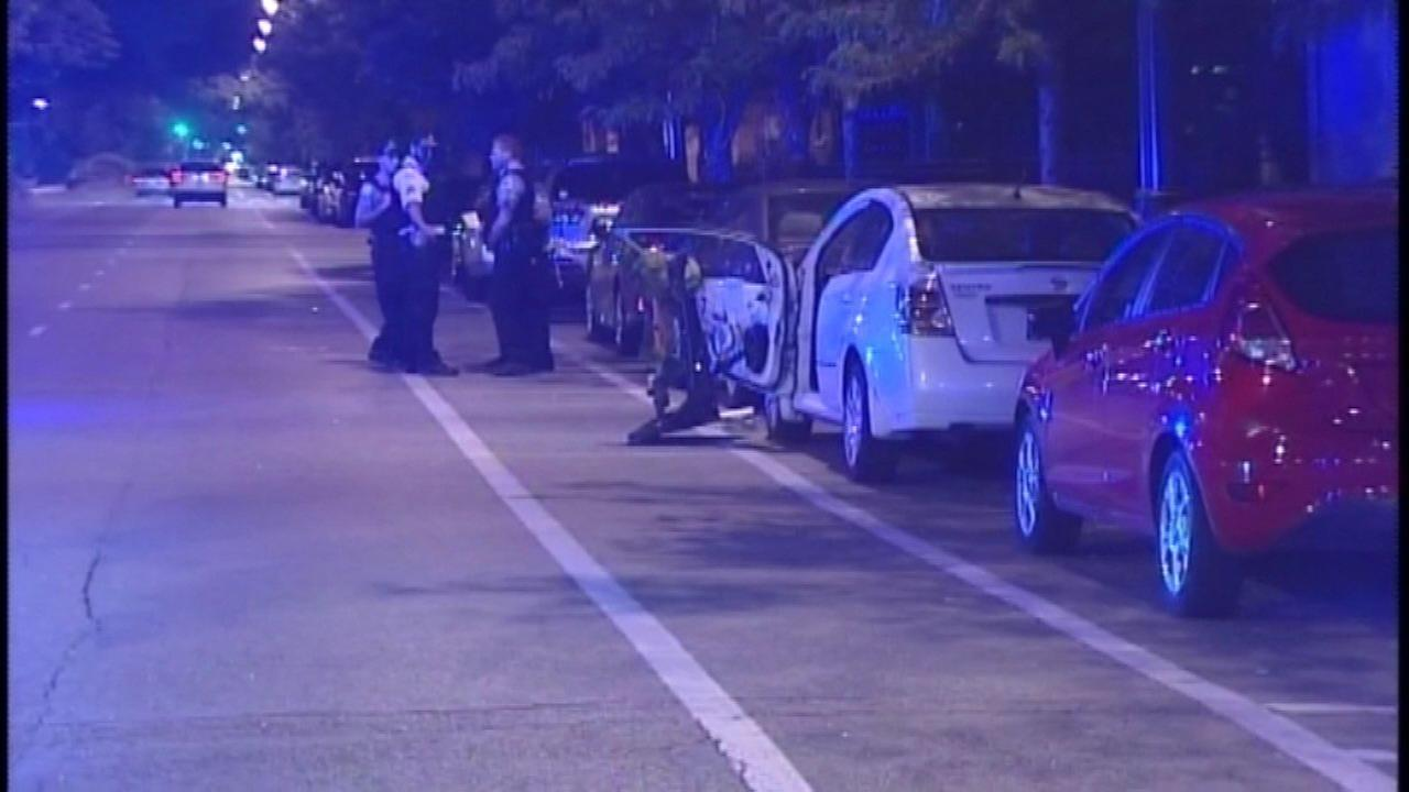 Police investigate after a woman was fatally struck by a car in the 1200-block of West Roosevelt Road,