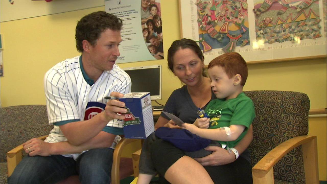 Cubs outfielder Chris Coghlan met with kids at Advocate Childrens Hospital in Oak Lawn.