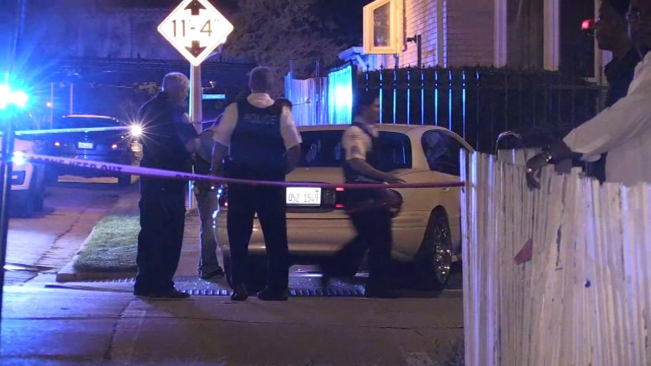 A man was shot and killed while driving in the 300-block of West 57th Street, police said.