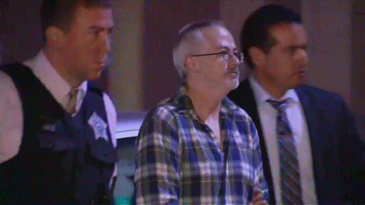 Wyndham Lathem arrives in Chicago after turning himself in to authorities in California last month in connection with the murder of a man in River North.