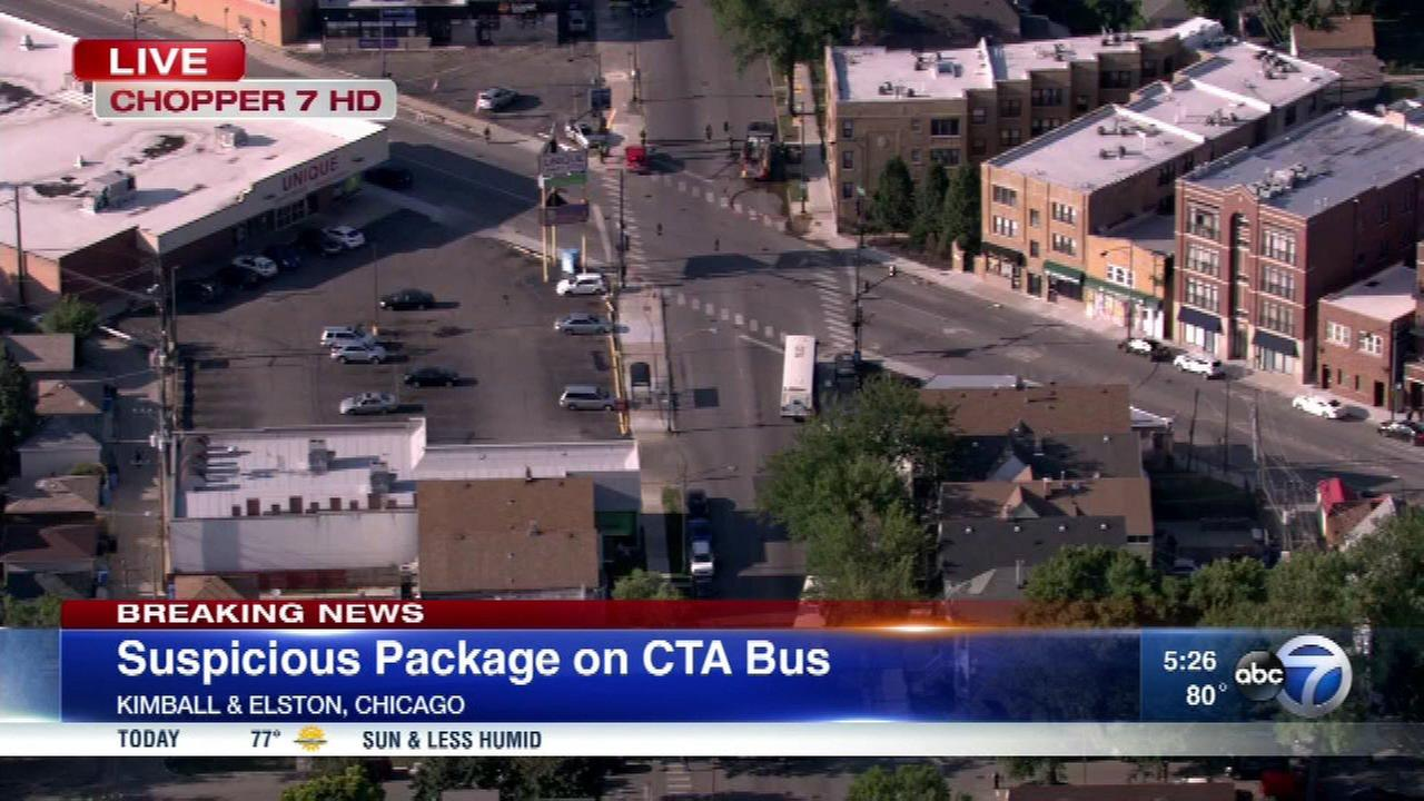 Suspicious package on CTA bus shuts down traffic on NW Side