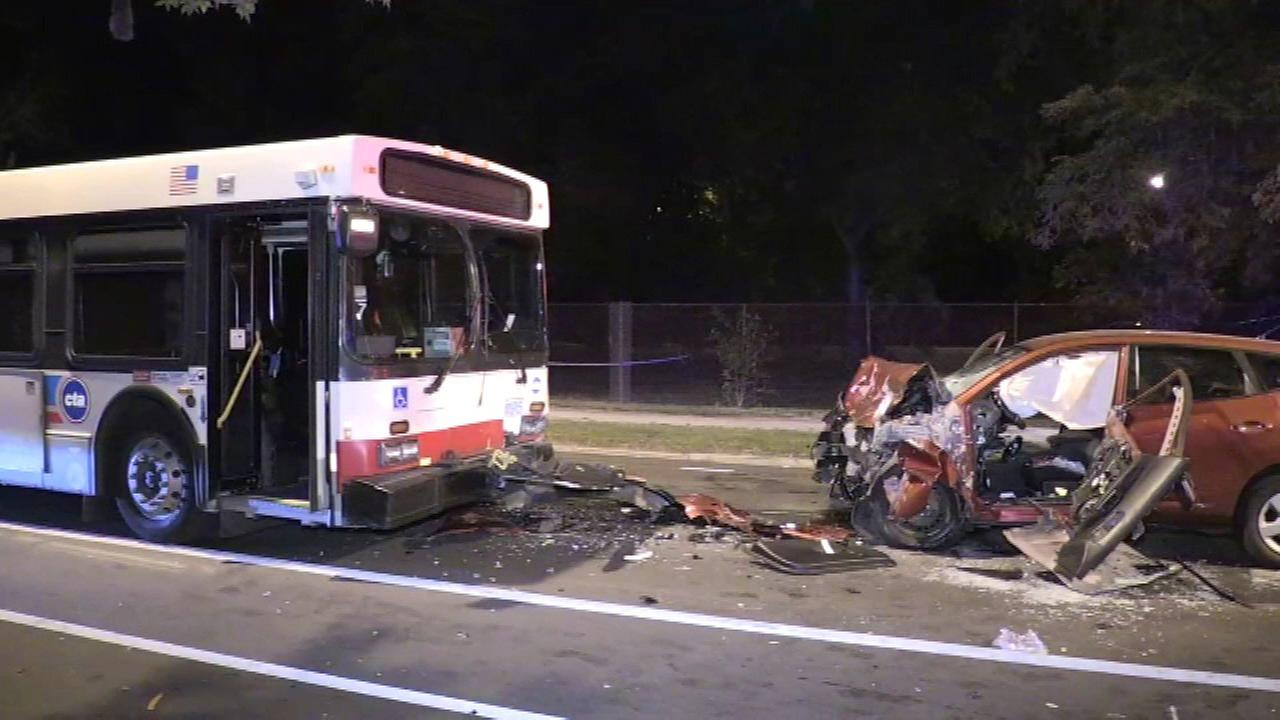 One person was killed after an SUV and CTA bus collided on King Drive Friday night.