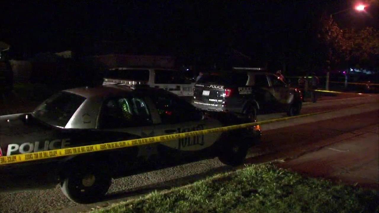Police investigate a triple homicide in the 2000-block of Great Falls Drive in Joliet.