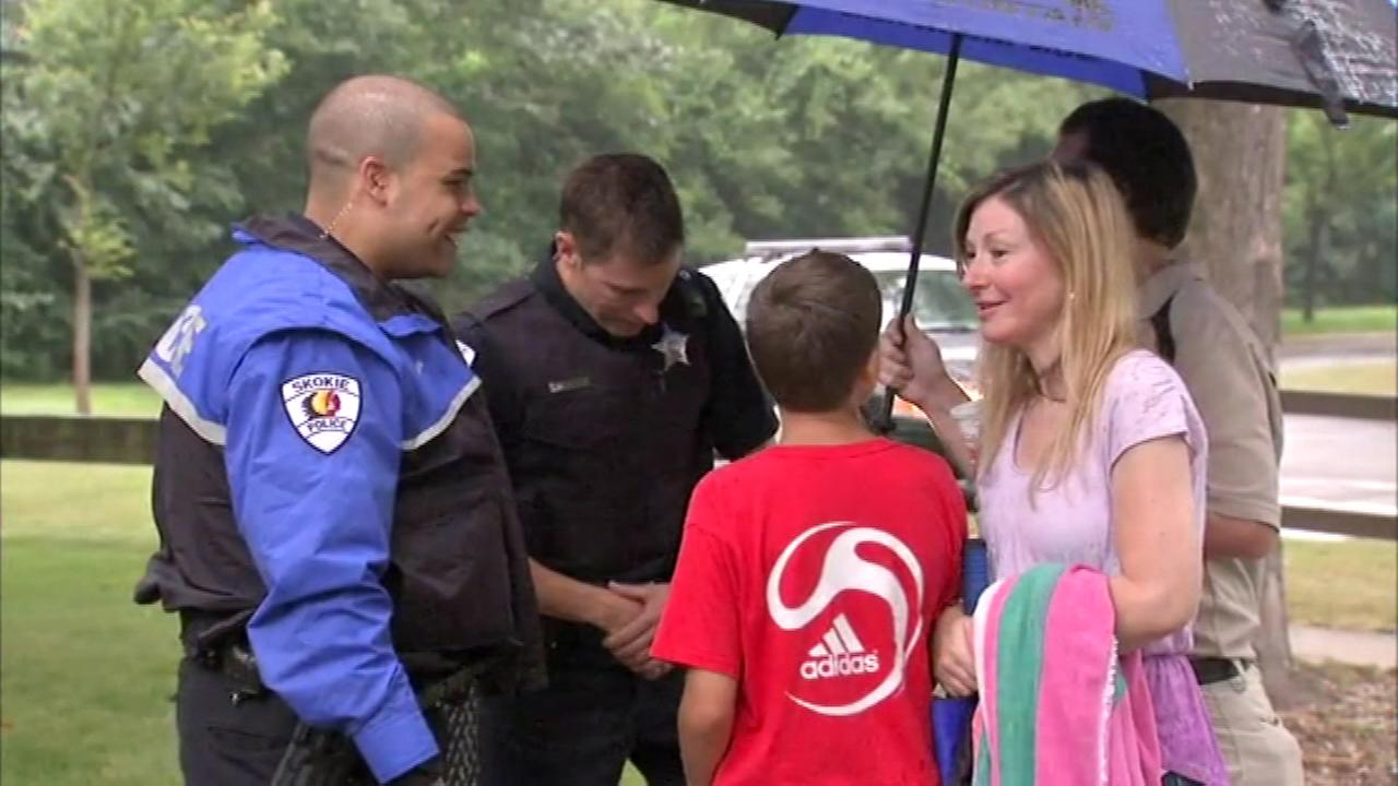 Police sponsored a meet-and-greet with the public called National Night Out in Skokie.